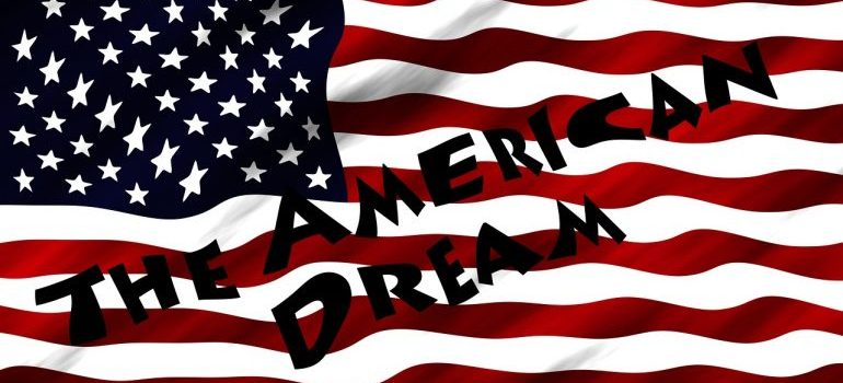 The USA flag.