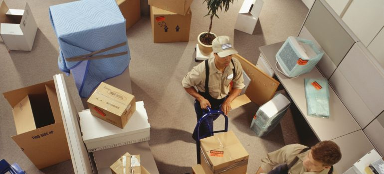 movers relocating an office